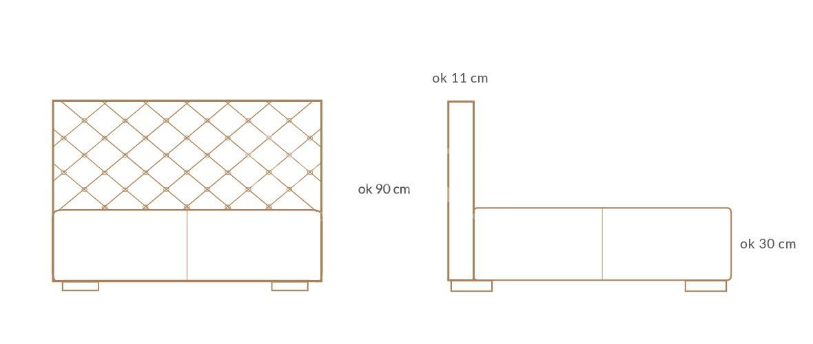 lozko tapicerowane caro wymiary 01